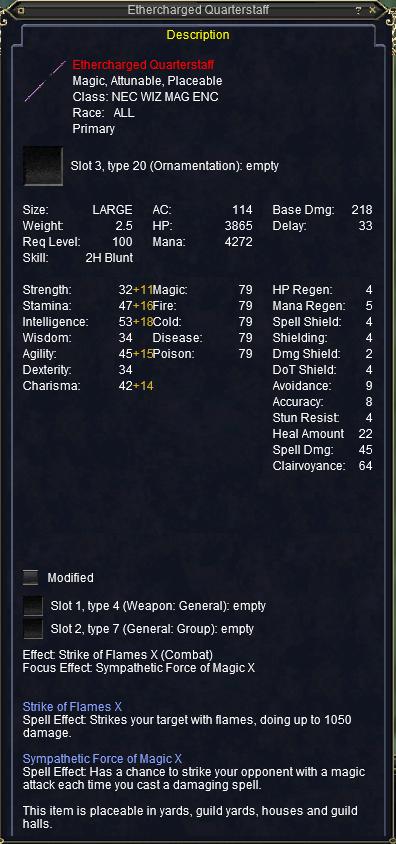 Ethercharged Quarterstaff stats