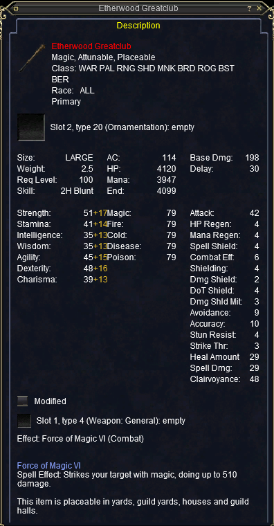 Ethernere Greatclub stats