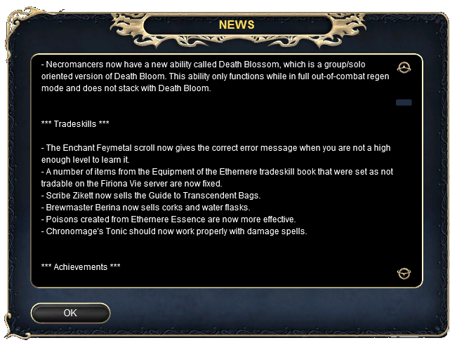 Test Server Patch Notes - 10-31-2013